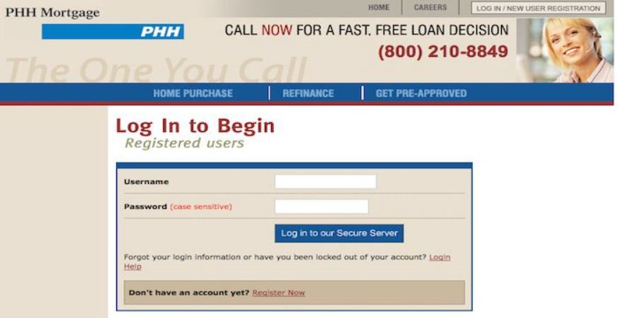 PHH Mortgage Login