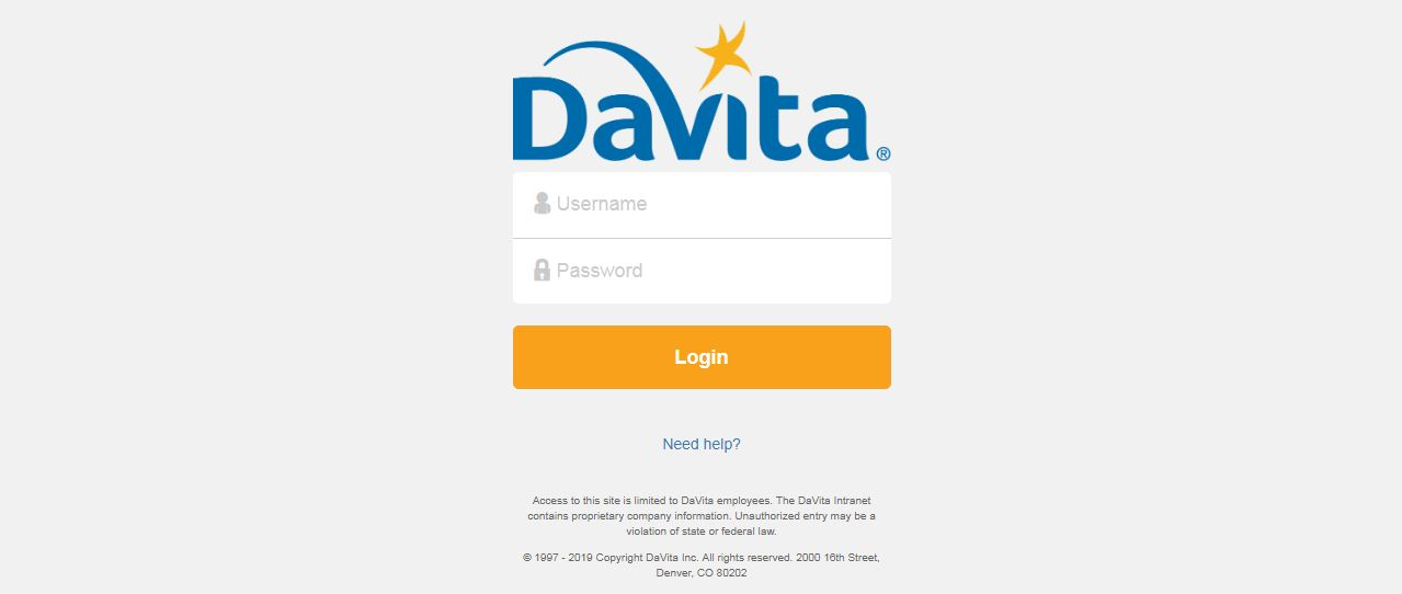 DaVita Intranet Login