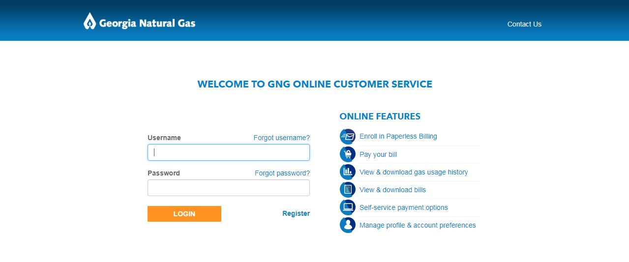 Georgia Natural Gas Login