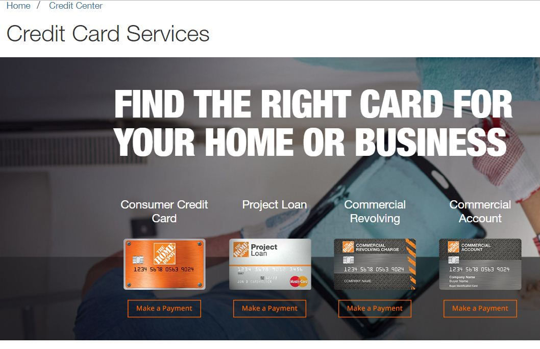 MyHomeDepotAccount Card Login