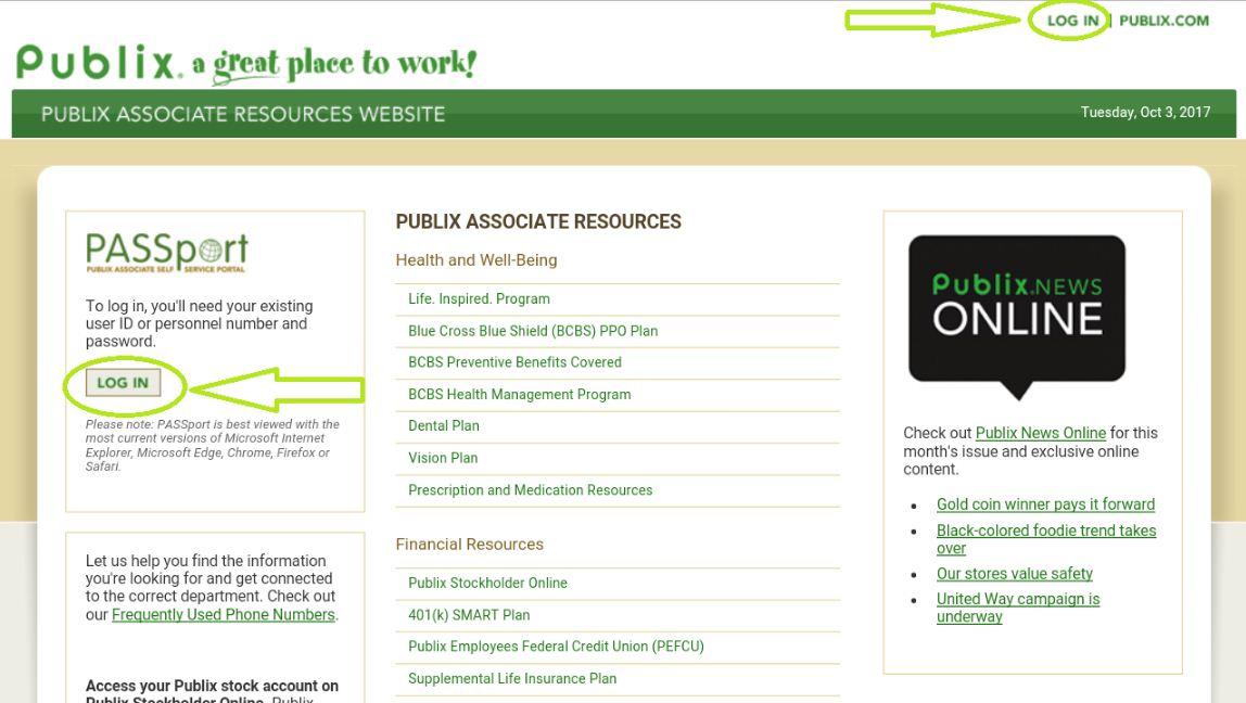 Publix Passport Login