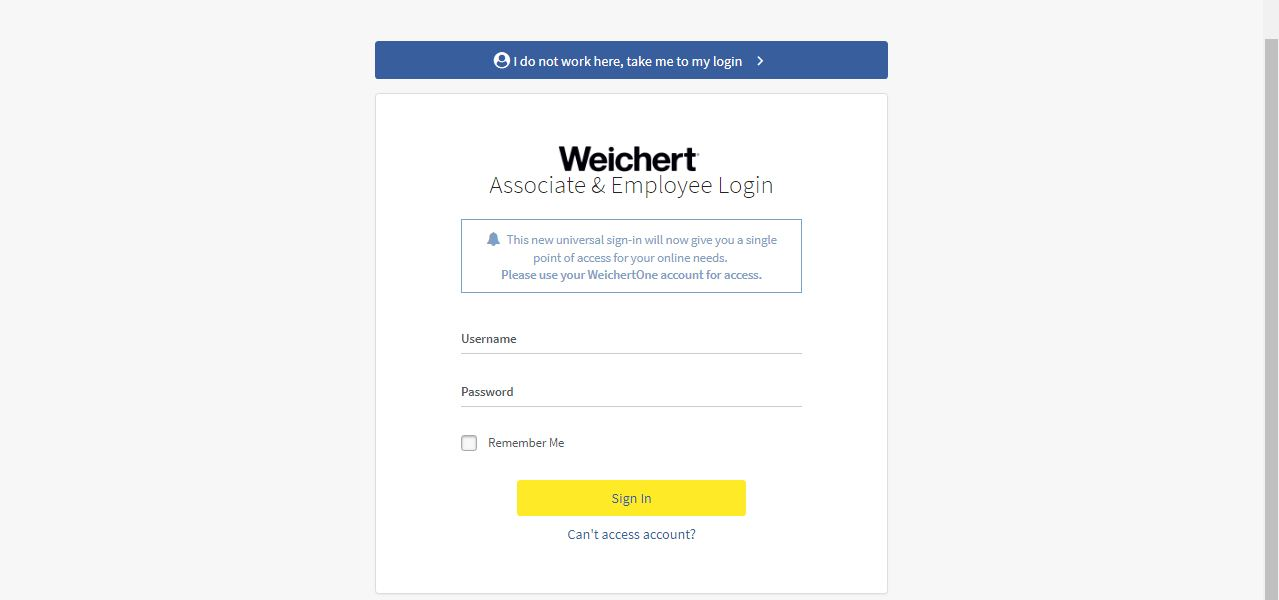 Weichert One Login