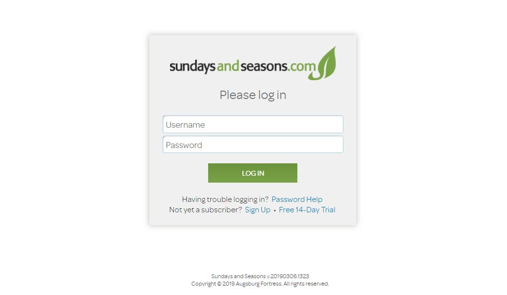 sundays and seasons login