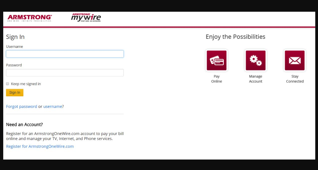 Armstrong MyWire Login
