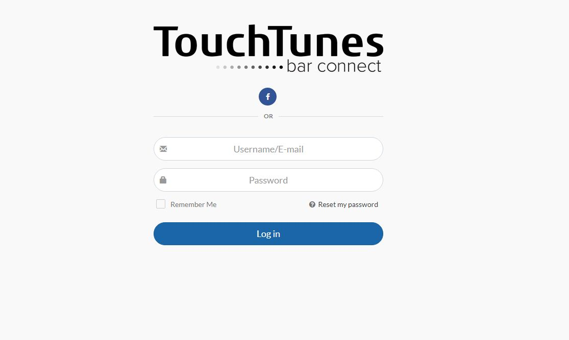TouchTunes Login